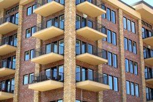 apartment complex with balconies