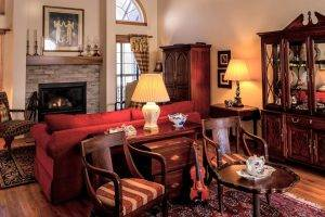 antique furniture in living room