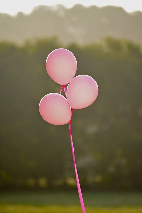 pink balloons for breast cancer